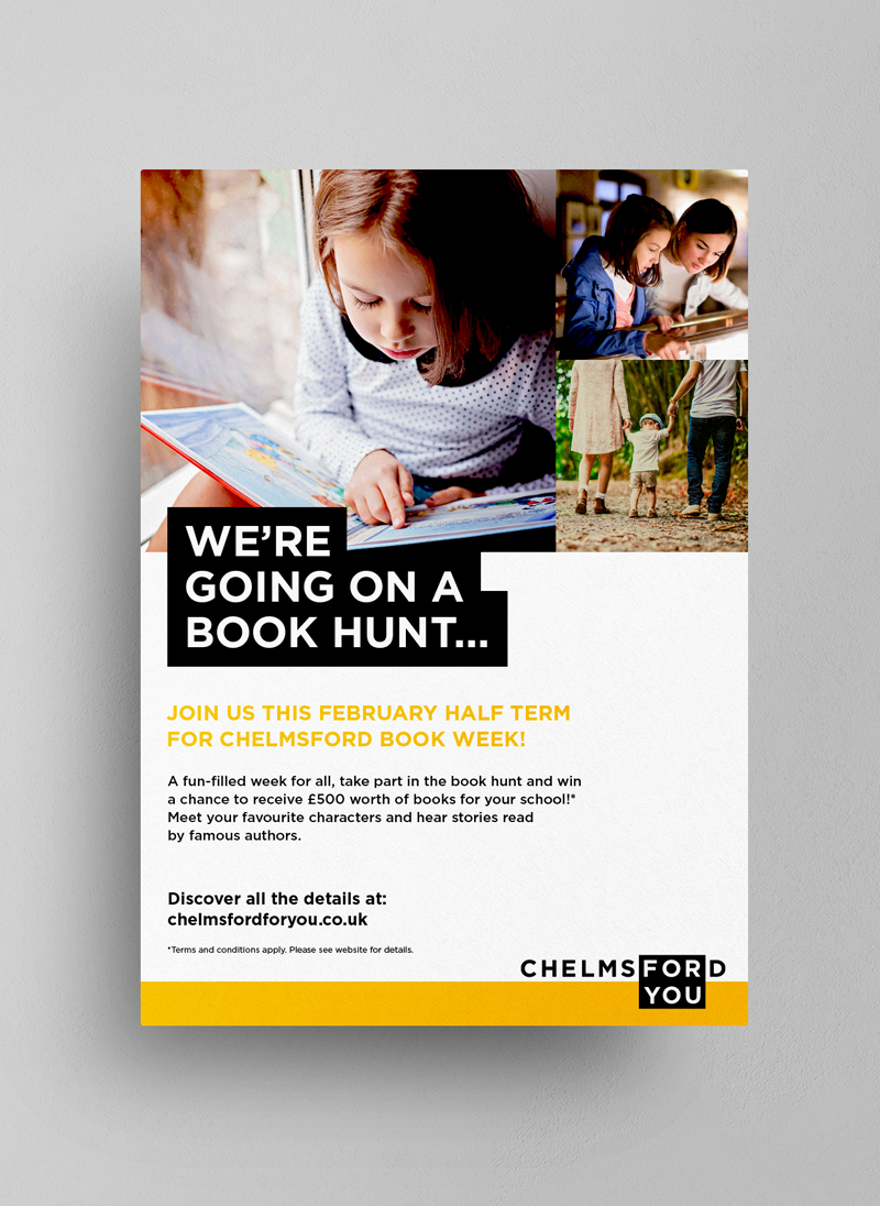 Chelmsford for you branding We Are Fred event flyer