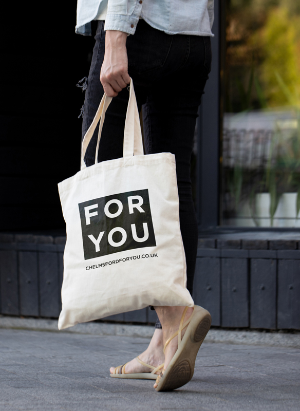 Chelmsford for you branding We Are Fred - tote bag