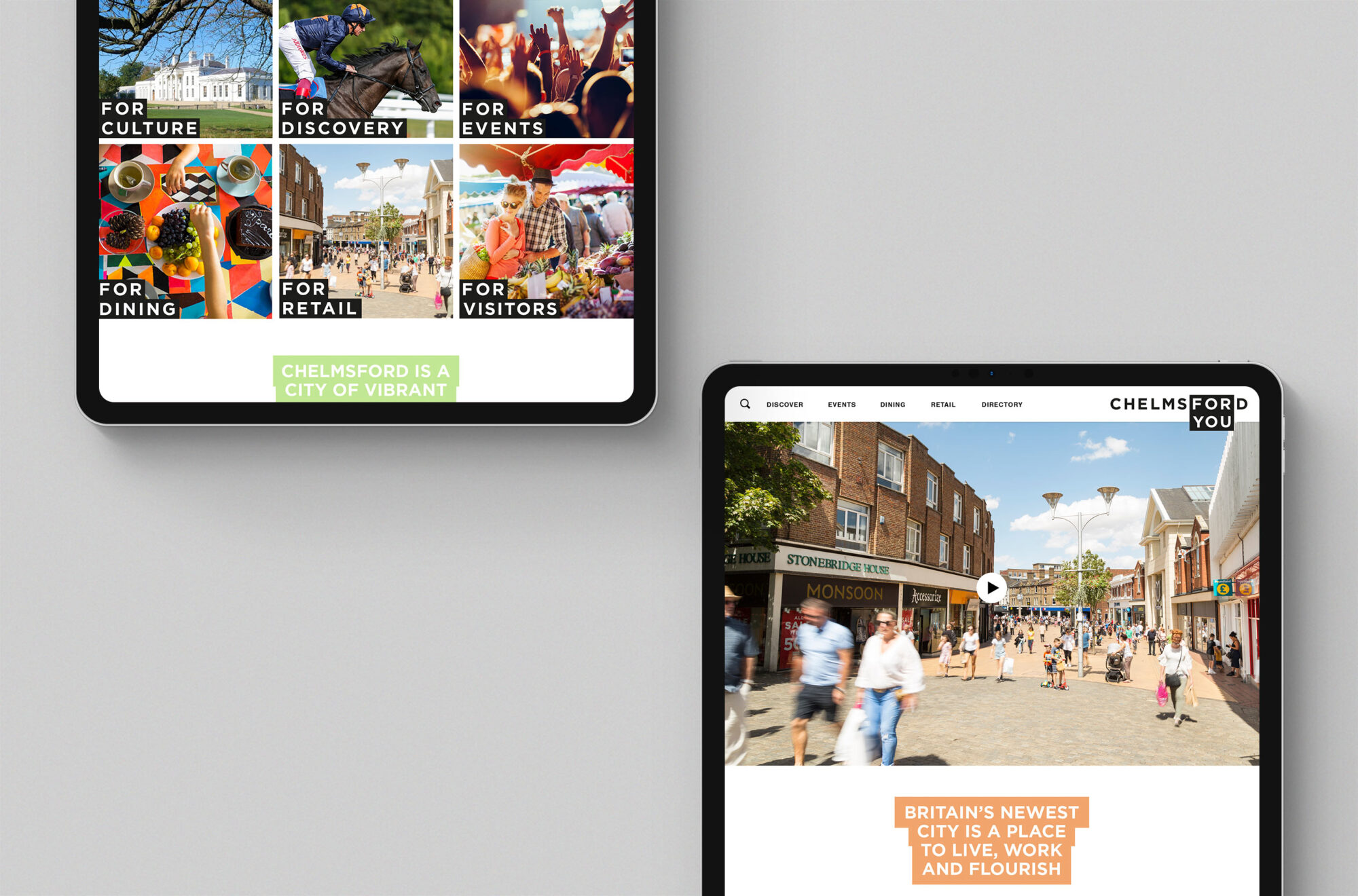 Chelmsford for you branding We Are Fred website