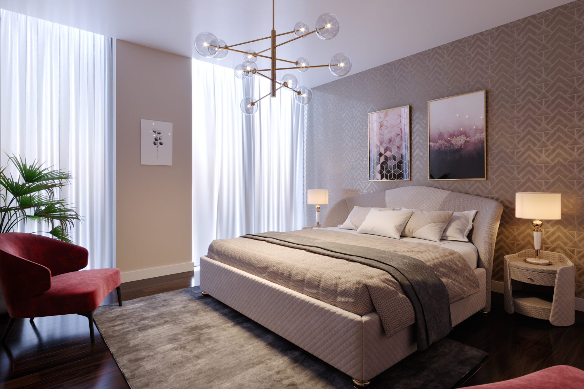 CGI creative team interior bedroom