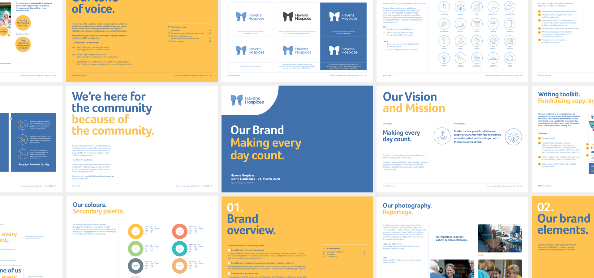 Havens Hospices brand charity guidelines