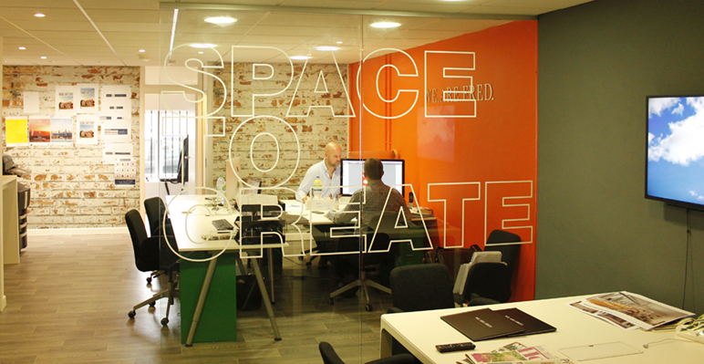 This is our creative grid We Are Fred office