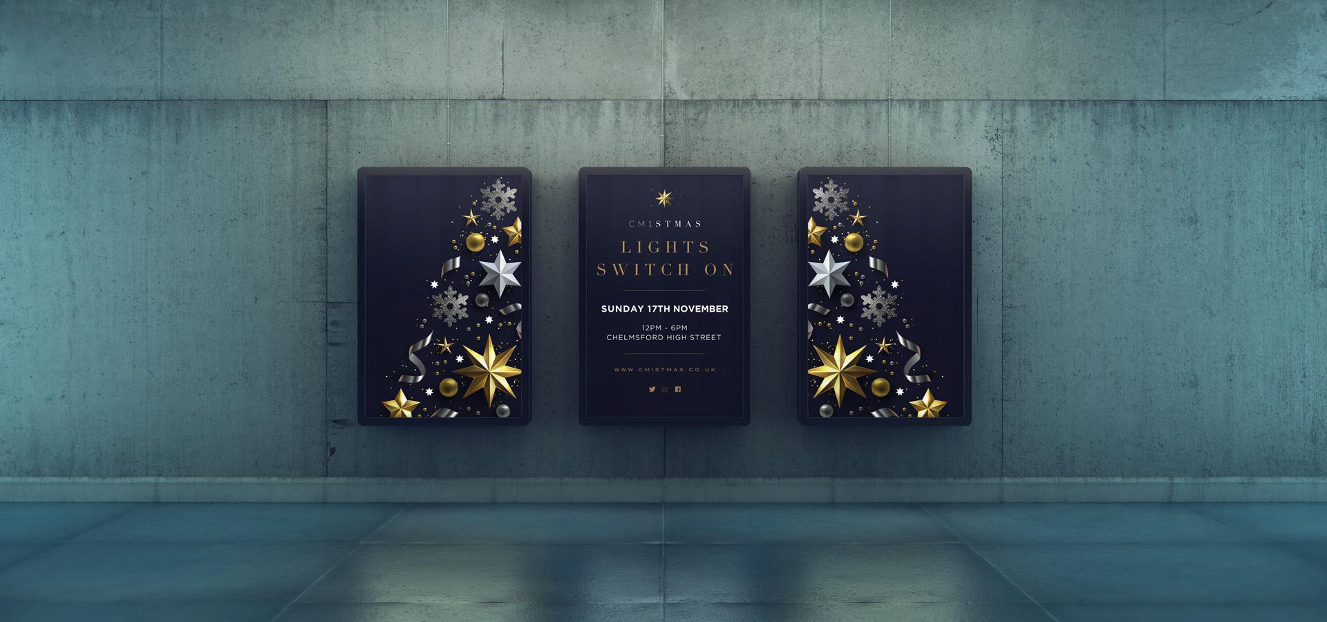 CM1stmas Chelmsford Christmas digital adverts