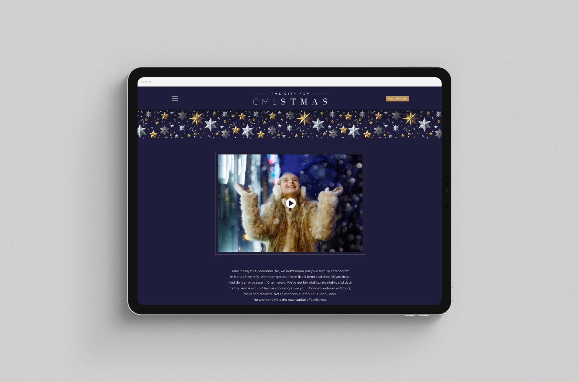 CM1stmas Chelmsford Christmas website ipad