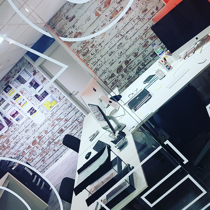 This is our creative grid We Are Fred office interior