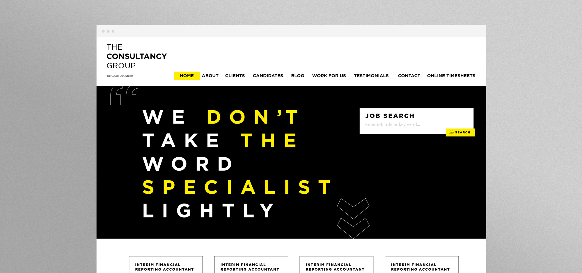 The Consultancy Group website