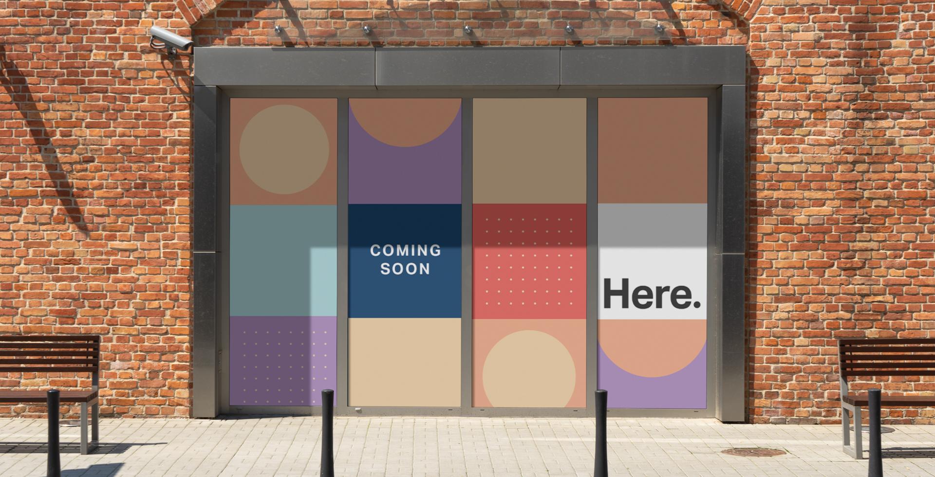 Here London window graphics